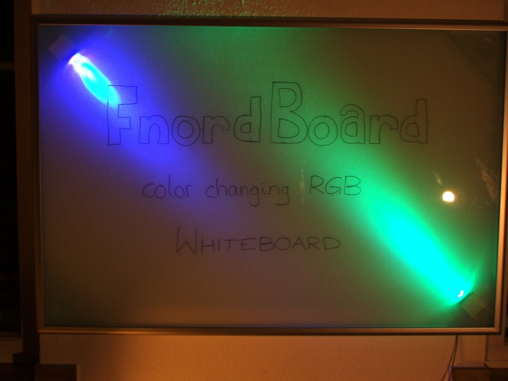 Fnordboard Color Changing Rgb Backlit Whiteboard Ikea Hackers