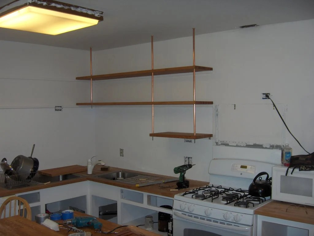 Butcher Block Countertop Kitchen Shelving Ikea Hackers