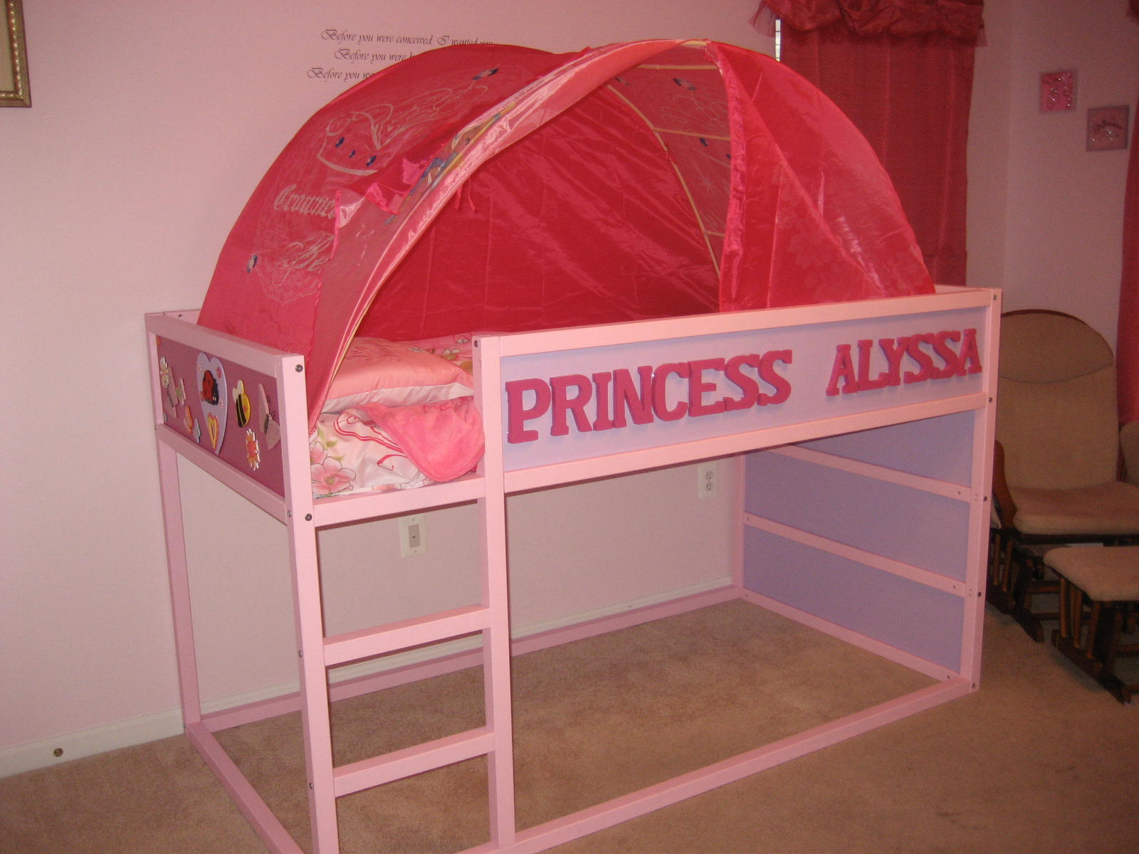 Personalized Kura Bed Fit For A Princess With Playhouse