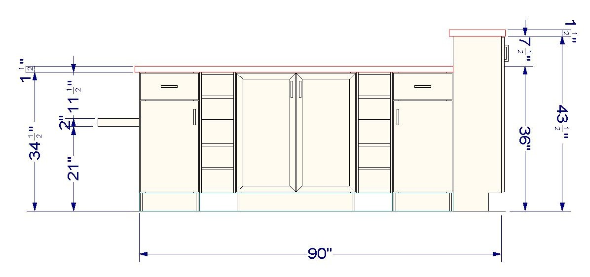 Kitchen Island Configurations Using Wall Cabinets As