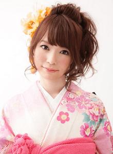 成人式 髪型 ミディアム アレンジ1