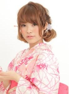 浴衣 女性 ロング 髪型、3
