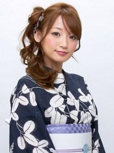 浴衣 女性 ロング 髪型、4
