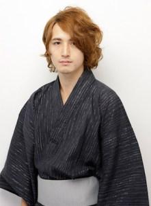 浴衣 男性 髪型、2