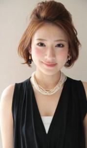 結婚式 ミディアム 髪型 ゲスト 女性、6