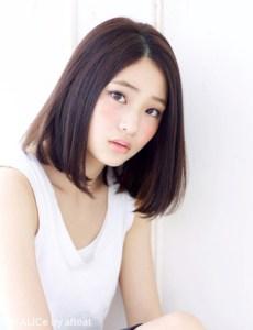 冬 レディース 人気 ミディアム 髪型、4