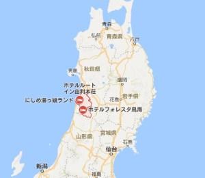 秋田県由利本荘市の位置