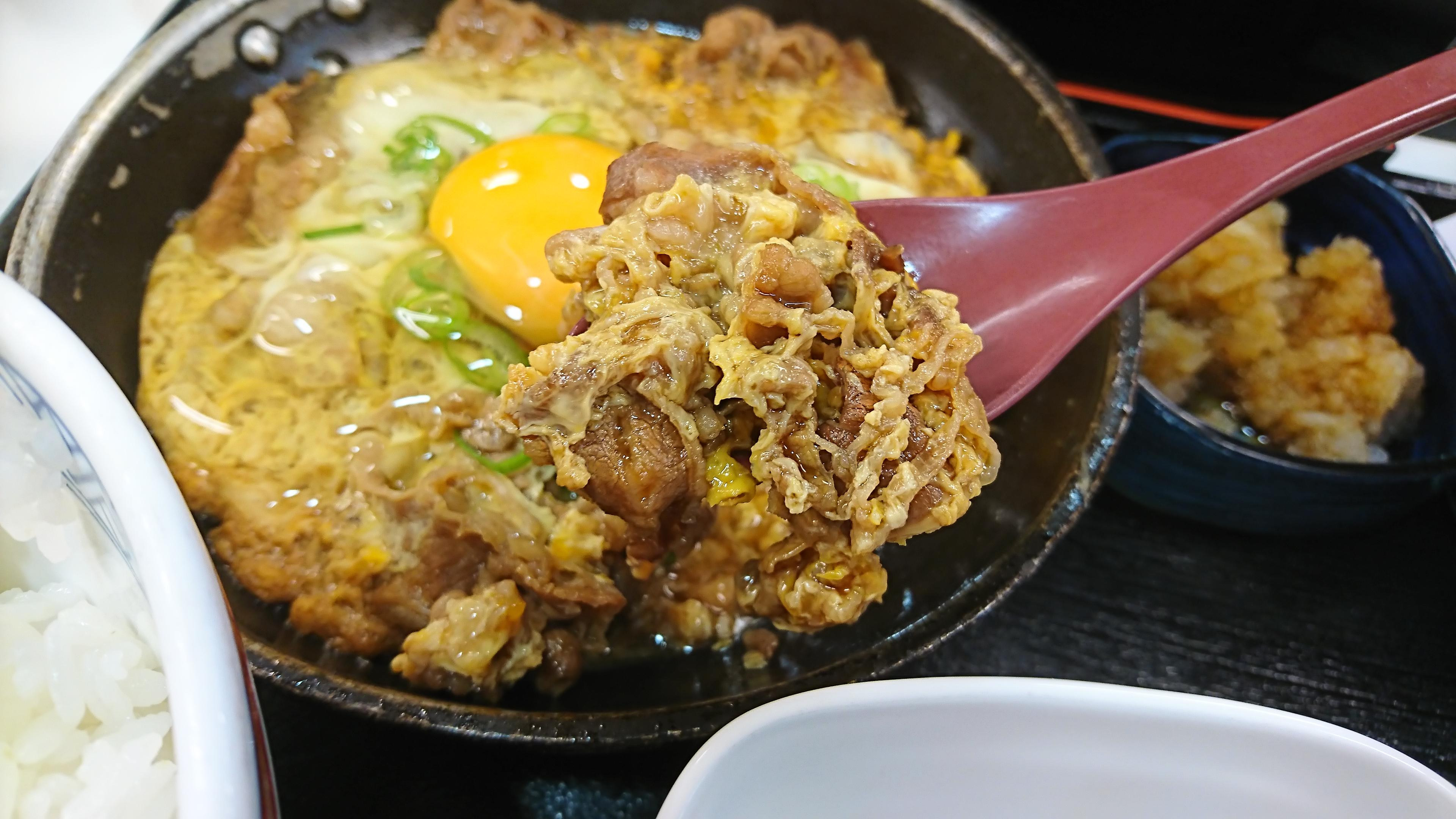 (写真:牛とじの肉)