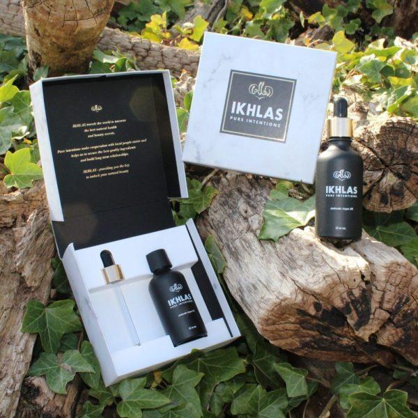 IKHLAS Moroccan oil, giftbox, geschenkdoos argan olie