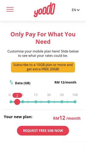 RM20 free credit dengan Yoodo Promo Code ekcce0516