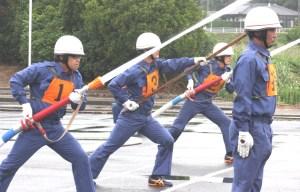 消防操法(一糸乱れぬ芦辺地区第1分団の操法)