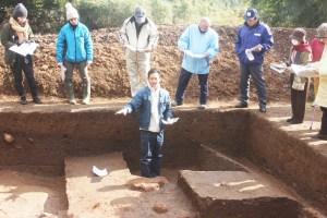 イエネコ(カラカミ遺跡での発掘調査報告会)