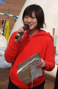 ケーブルテレビ(新春マラソンの司会を務める後藤アナ)