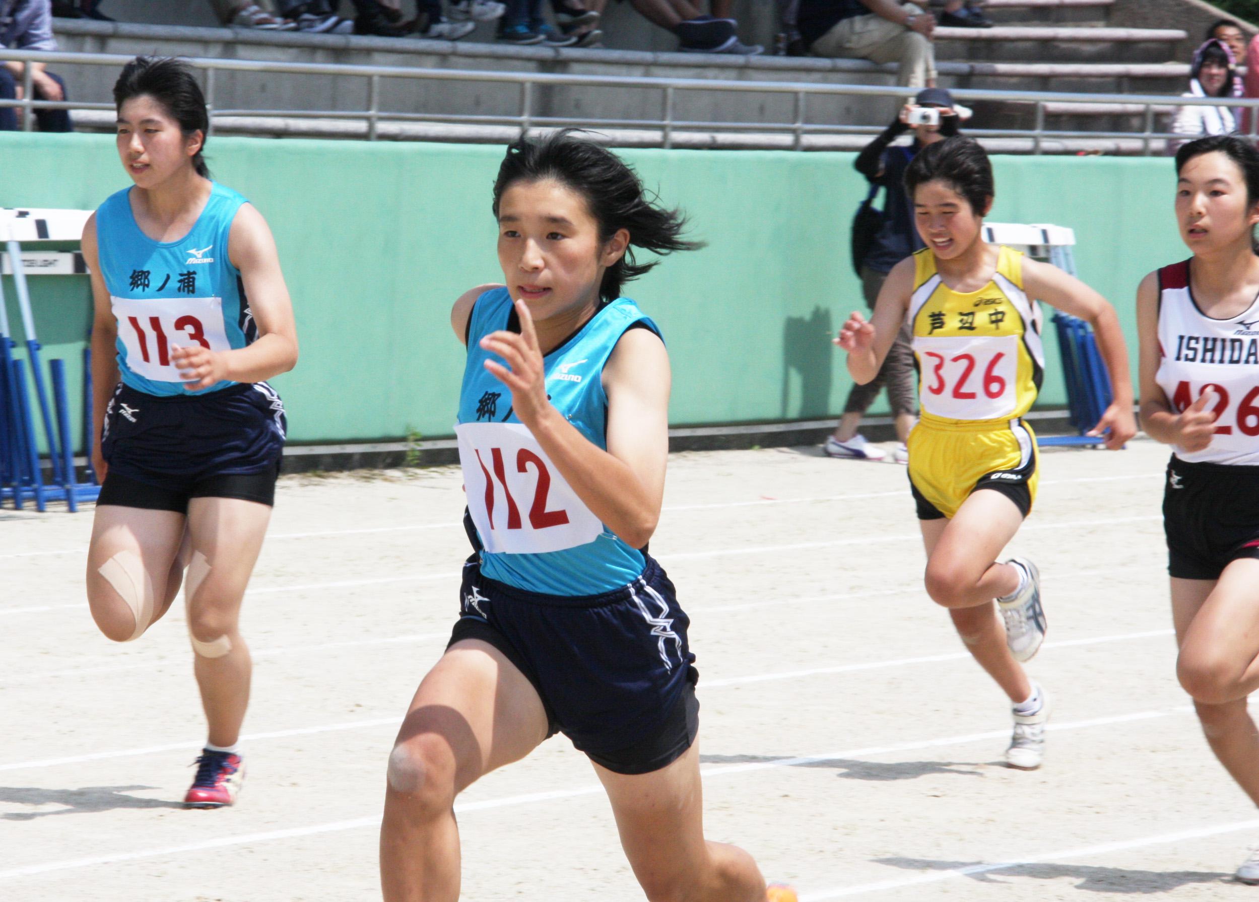 w中総体(2年女子百・黑木向日葵(112))