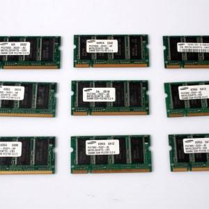 9x Samsung Laptop RAM 9x256MB PC2700 DDR-333 CL2.5 M470L3224FT0-CB3