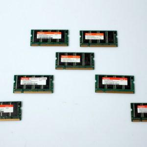 7x Hynix Laptop Memory 7x256MB= 1.7 GB HYMD232M646D6-J  DDR PC2700 333MHz
