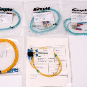 YENİ 5 X SIMPLE System LC-SC 4 Meters Optic Cable DUPLEX FPCZLCLC22-RF004