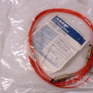 NEW AMP System 1 Meter SC-SC Optic Cable DUPLEX 62.5/125 0-0349578-2