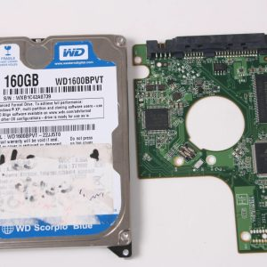 WD WD250BEVT-00A23T0 160GB 2,5 SATA HARD DRIVE / PCB (CIRCUIT BOARD) ONLY FOR DATA