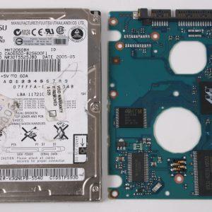 FUJITSU MHT2060BH 60GB 2,5 SATA HARD DRIVE / PCB (CIRCUIT BOARD) ONLY FOR DATA