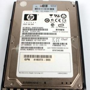 "HP 72GB SAS 15K SAS 2.5"" Harddisk & Kızak 512544-001 EH0072FAWJA 418398-001"