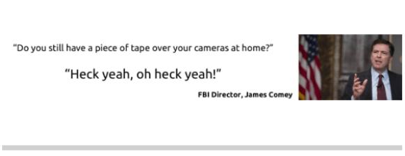 Webcam cover der beskytter dit privatliv mod hackere - 3 stk