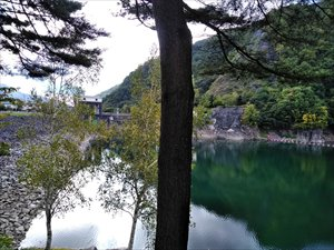 広場の周囲からダムを眺めることができます