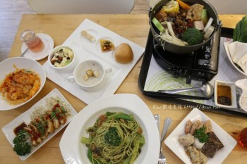 台中White Kitchen懷特廚房 北區素食火鍋推薦素食無國界料理 義大利麵/燉飯/飲品
