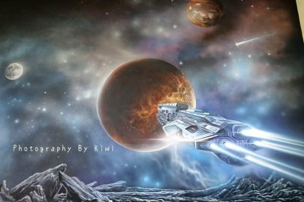 【北斗景點】螺青國小幸福彩繪飛向太空系列!夢幻星球與外太空呈現在眼前,八卦茶園與銀杏都悄悄搬移到這裡,好好玩也很美!遛小孩超適合(北斗一日輕旅行)
