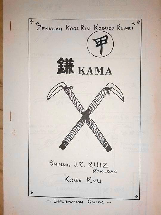 Koga-Ryu Kobudo Reimei - Kama Manual