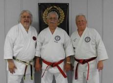 Hanshi Lenny Jordan, Soke Joseph Ruiz and Kyoshi-Sei Larry Griffin