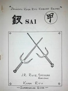 Koga-Ryu Kobudo Reimei - Sai Manual