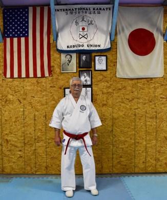 Soke Ruiz after the 2017 IKKU Christmas Clinic at Suansu Karate Kai