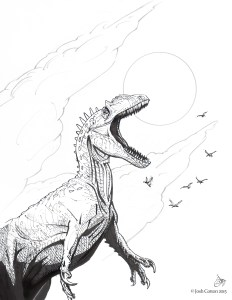 Allosaurus, in ink, by Josh Cotton