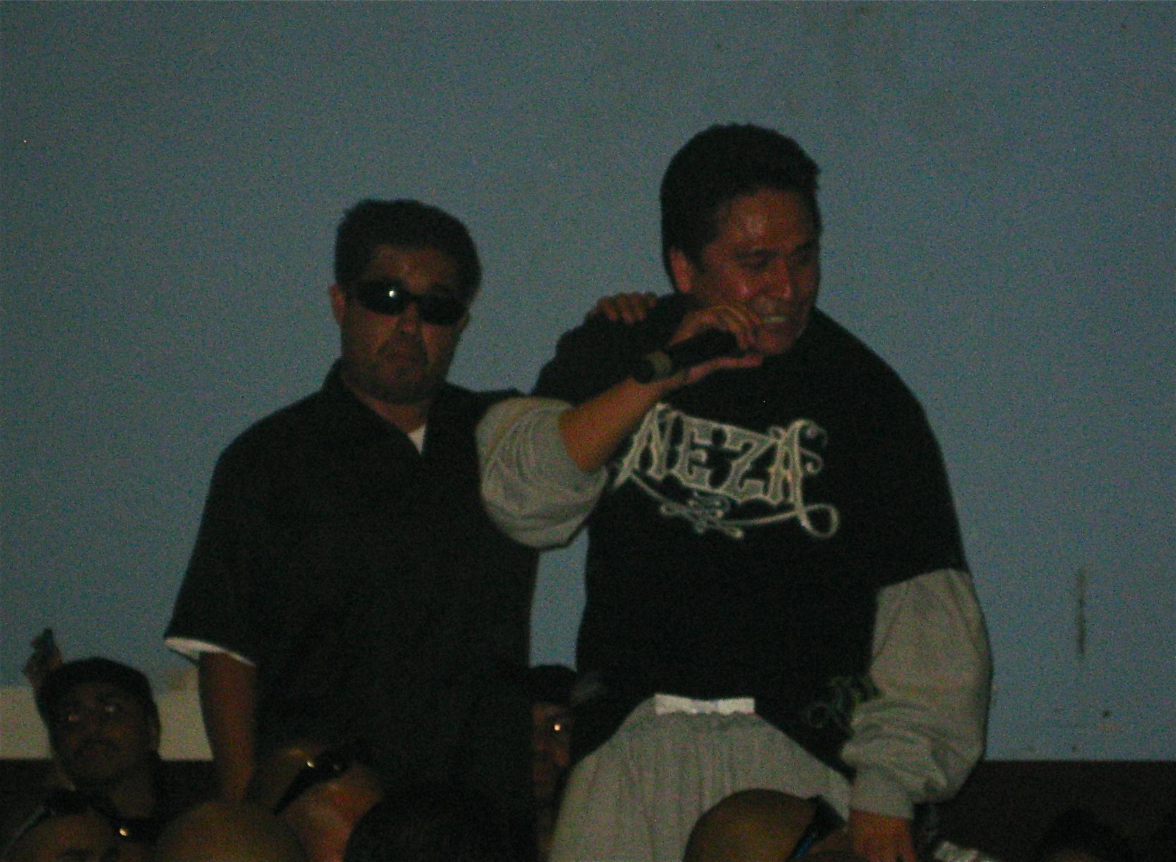 Rapper Plata Ramirez performing in Ticoman, October 2009