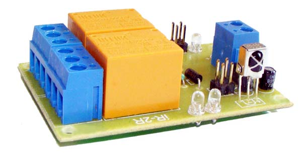 Infrared  remote control relay board 2 channel- iknowvations