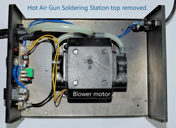 hot air gun top removed, iknowvations