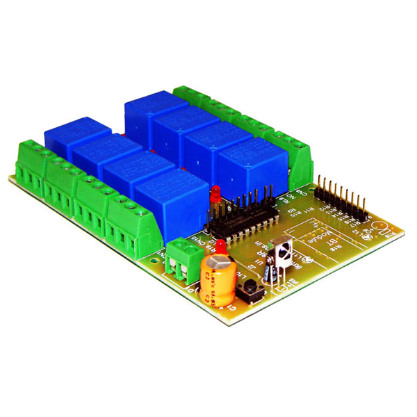 iUB-8RO - 8 channel ir remote control relay board with i/o from iknowvations.in