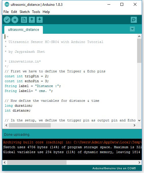 arduino sketch iknowvations.in