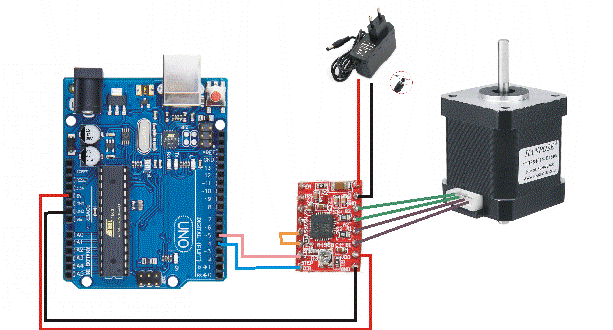A4899 Stepper motor driver with Arduino