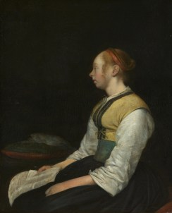 Gerard ter Borch, Seated Girl in Peasant Costume, c. 1650-60, oil on panel, 28 x 23 cm, Rijksmuseum Amsterdam (https://www.rijksmuseum.nl/en/collection/SK-A-4038)