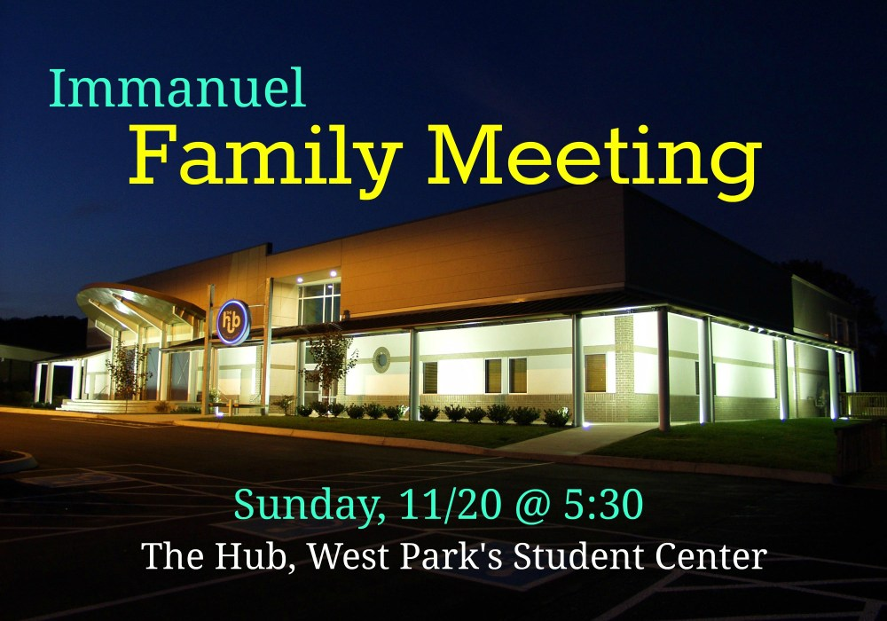 Immanuel Church Knoxville Family Meeting