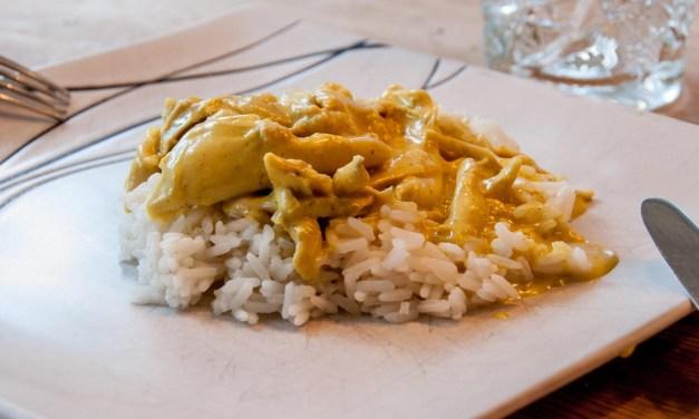 Currykyckling