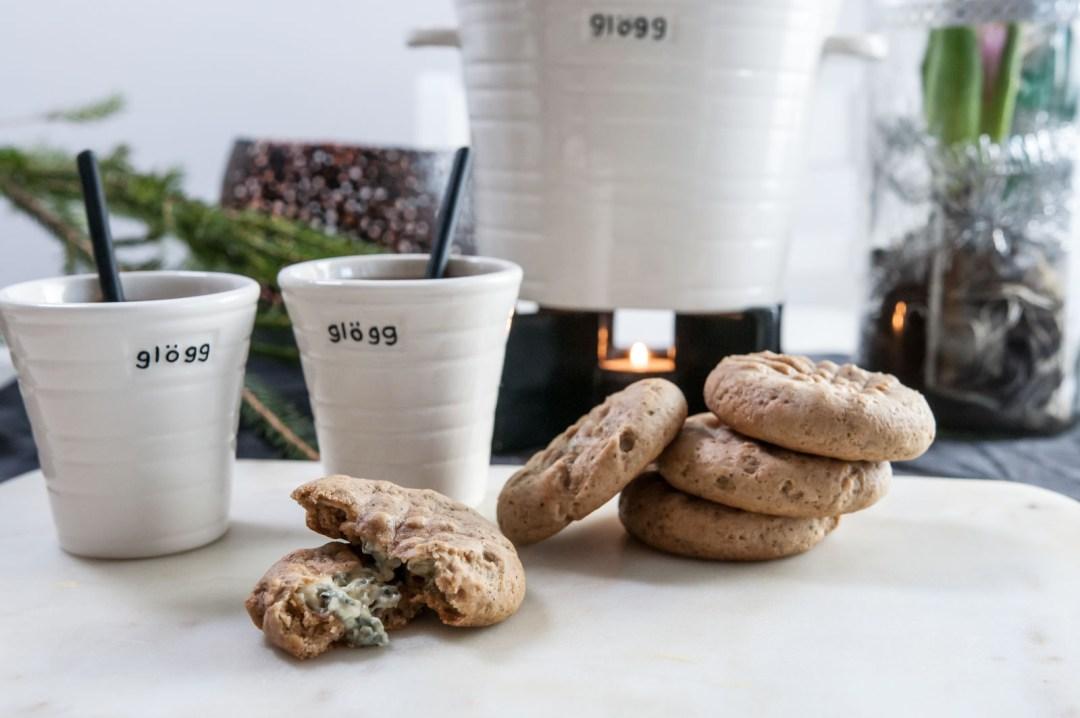 Pepparkakscookies med mögelost