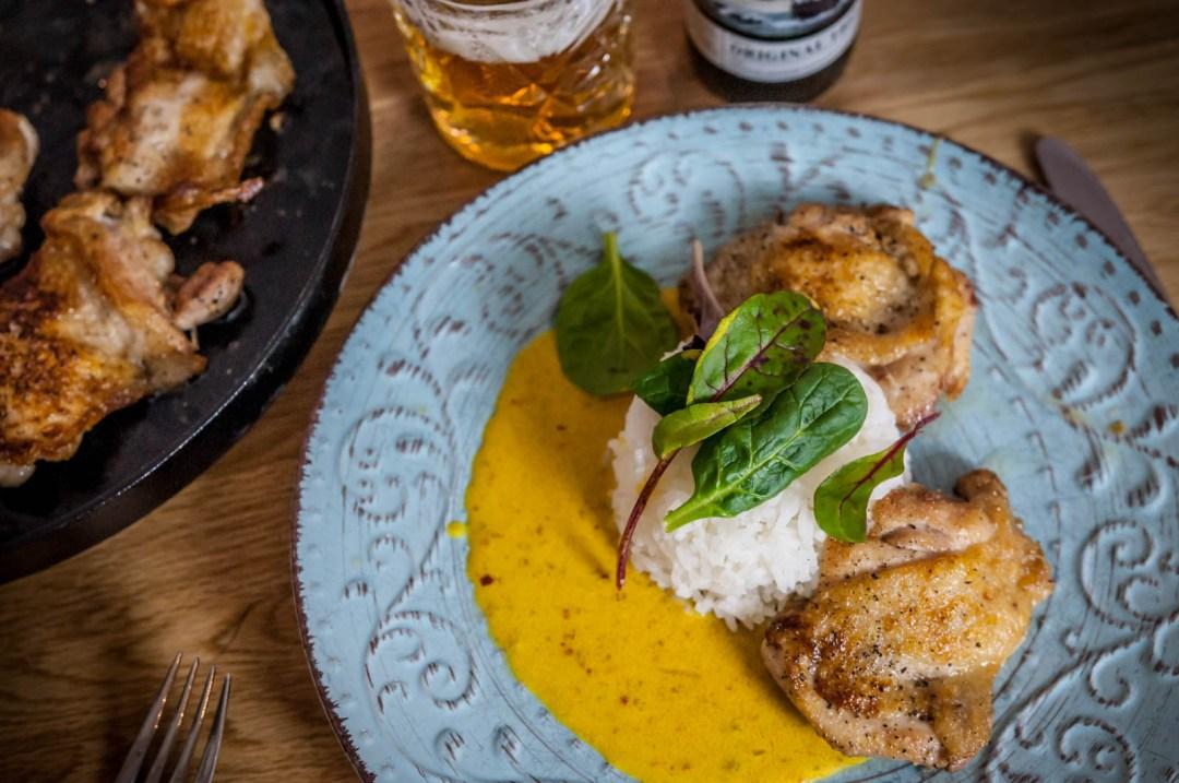 kycklinglår med currysås