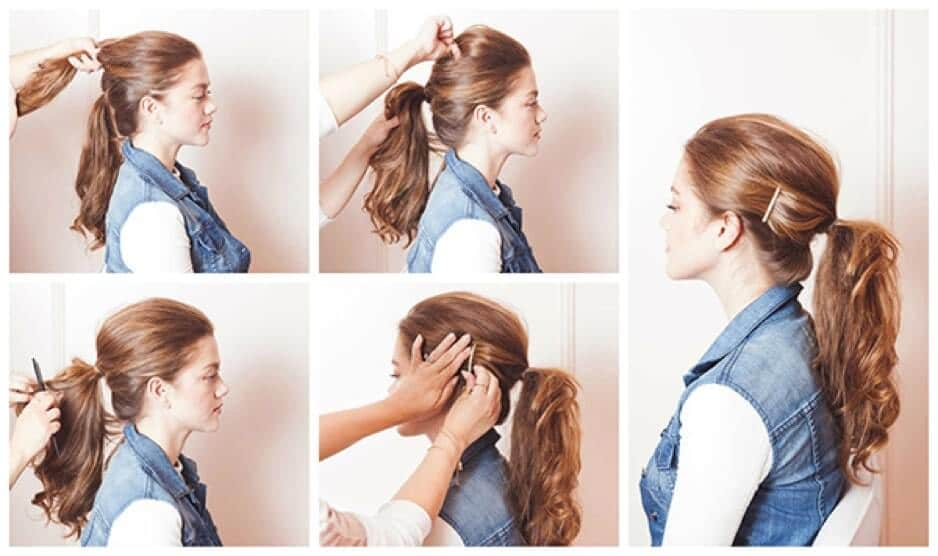 how to Messy Ponytail with a Clip