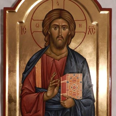 Christ Pantokrator, 24 cm x 35 cm.