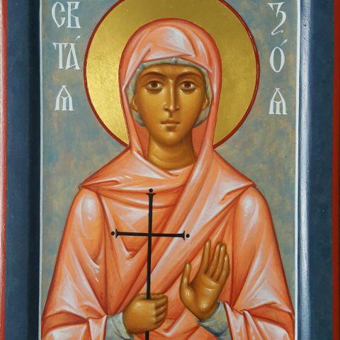 Sainte Zoia, 14 cm x 19 cm.