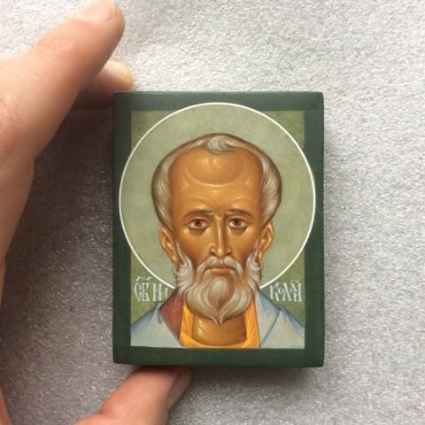 Saint Nicolas de Myre, 4 cm x 5 cm