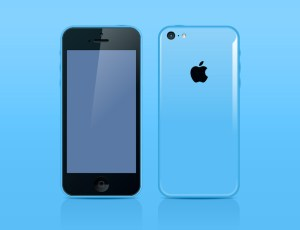 FREE iPhone 5c in Adobe Illustrator